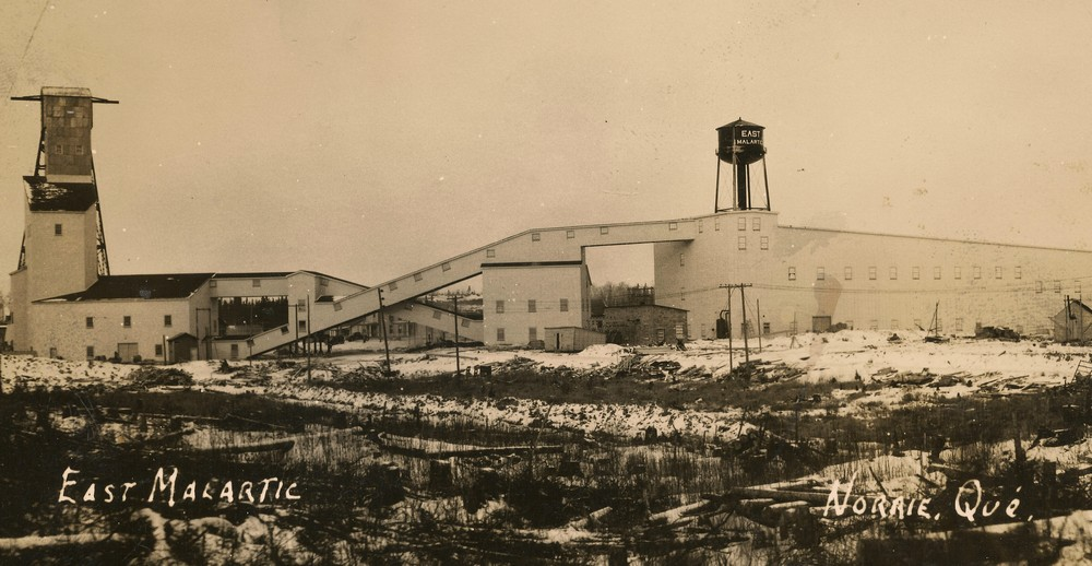 Old picture of the East Malartic Gold mine