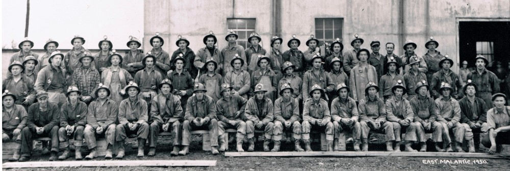 East Malartic workers in 1950