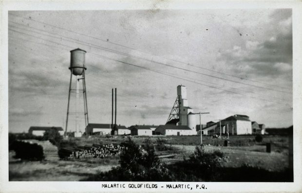 Old picture of the Malartic Gold Fields Limited Mine