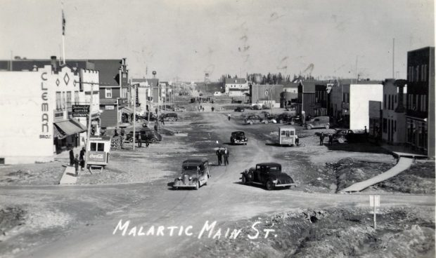 Malartic main street in the 1940s
