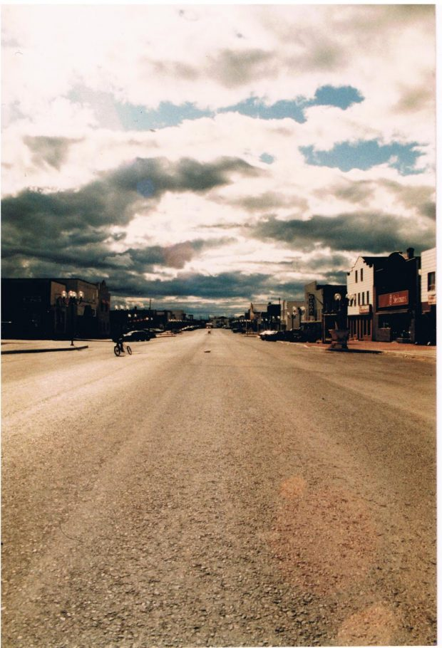 View of the main street of Malartic in the years 1980 to 1990