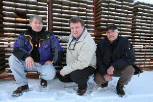 Osisko Mine founders- informal portrait of three men