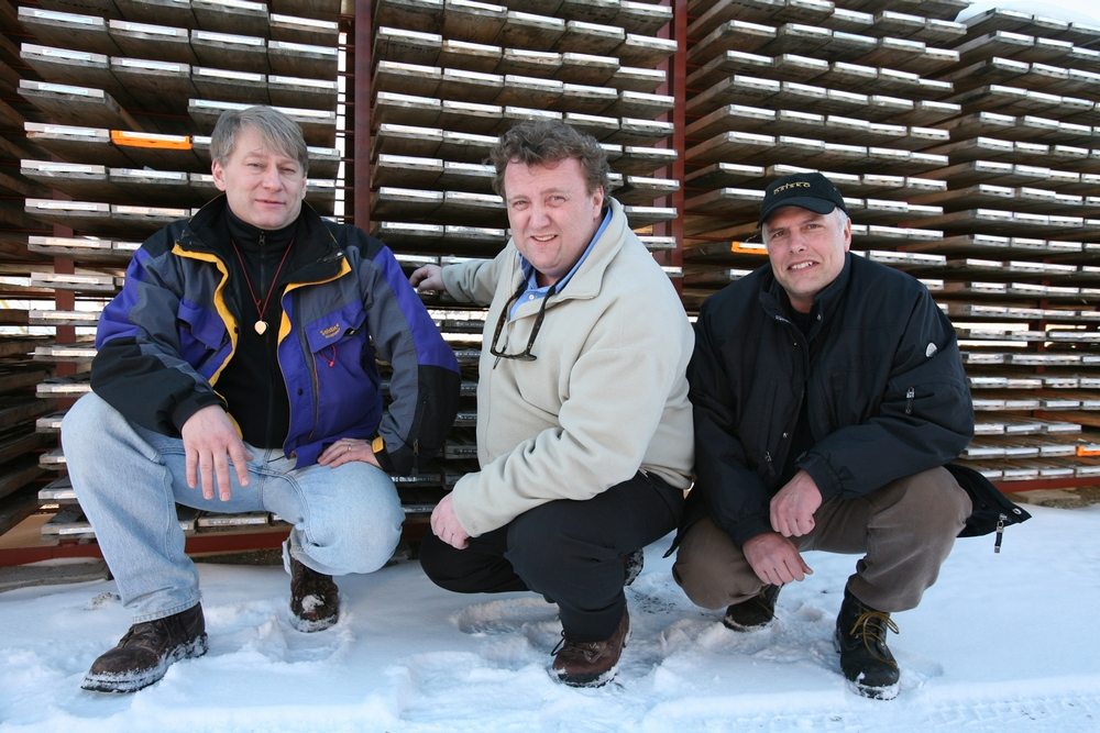 Osisko Mine founders- informal portrait of three men