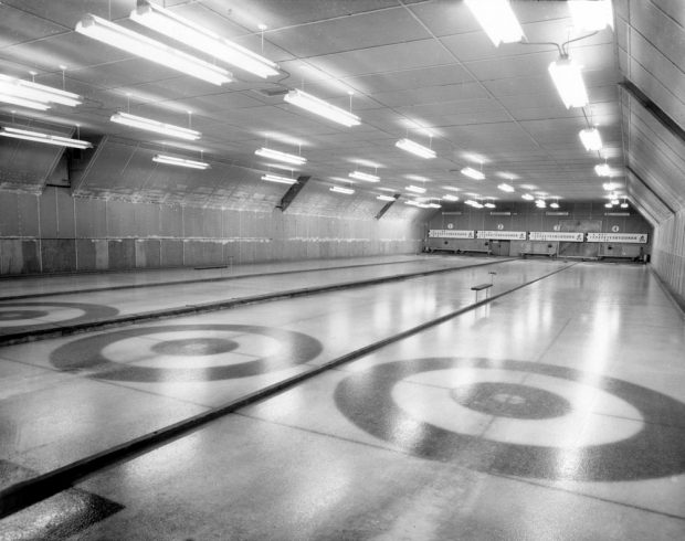 Curling ice at the curling facility of Malartic