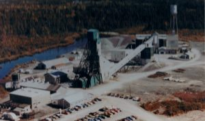 Aerial view of the Camflo Mine