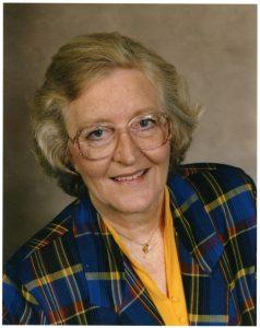 A portrait photo of a woman.