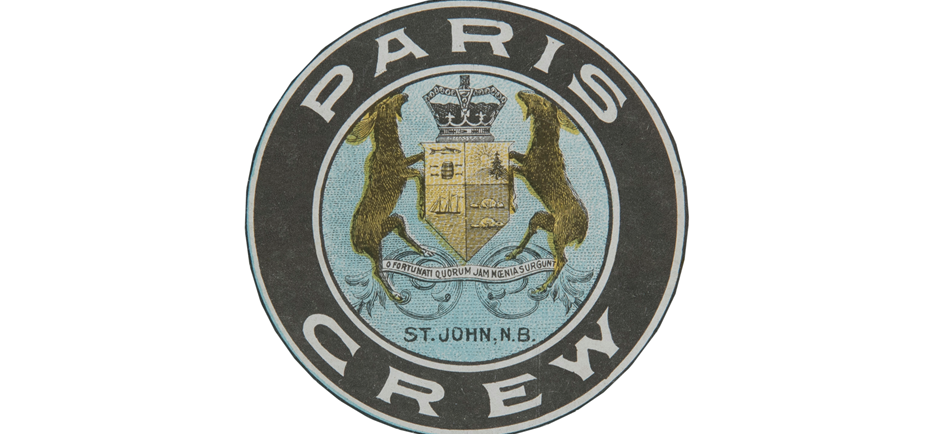 Image of the Paris Crew crest that was used in numerous archival documents and artefacts that were created during the time of The Paris Crew in the 1867 timeframe.