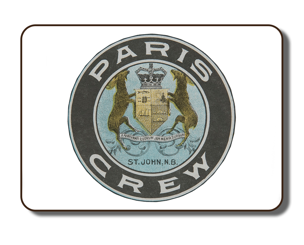 """Image of the Paris Crew crest that was used in numerous archival documents and artefacts that were created during the time of """"The Paris Crew"""" in the 1867 timeframe."""
