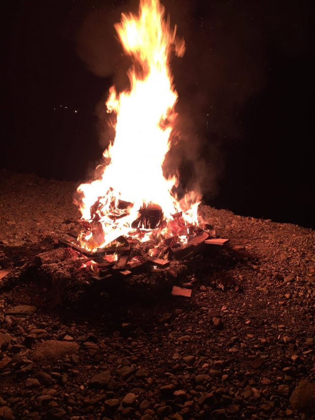 Bonfire on Guy Fawke's night
