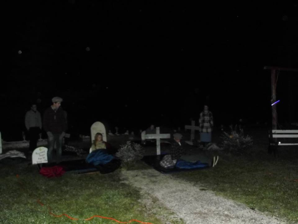 Souls rise from the graves in an outdoor performance of West Moon