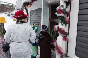 Mummers knocking and asking if they can come in