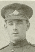 Portrait of a soldier wearing a peak hat.