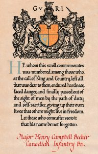 Commemoration Scroll with crest