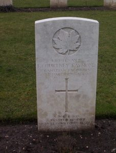 "Lieut. Raymond's Military Grave, Great Britain VAC. ""Frederick Courtney Raymond."" CVWM. Accessed 30 March 2017. Web."