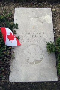 "Lieut. Whitaker's Grave, France Unknown VAC. ""Herbert Atherton Whitaker."" CVWM. Accessed March 30, 2017. Web."