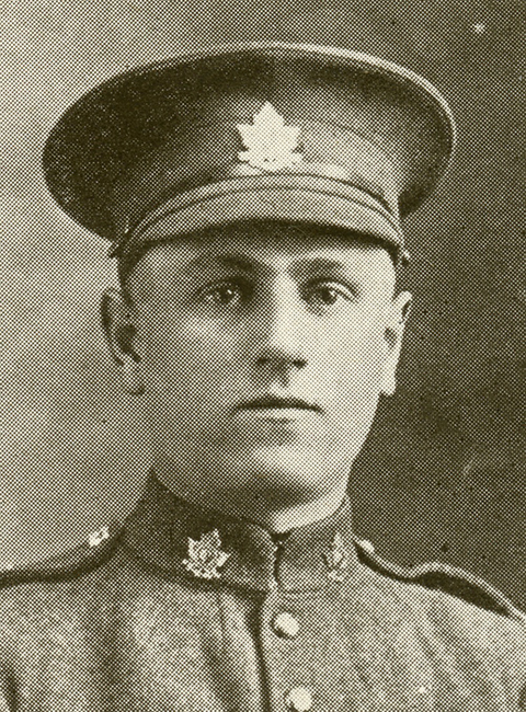 Portrait of a soldier wearing a peak hat.