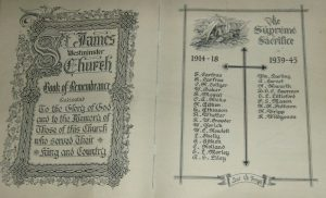 St. James Westminster Church Honour Roll Ca. 2015 Photograph by Kristen Way, LLSC.