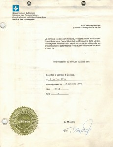 Sheet with the Government of Québec letterhead and a gold seal in the bottom left corner.