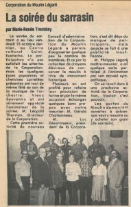 Photo of board members that accompanied the newspaper article.